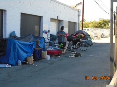 Before-Homeless Encampment Clean Out