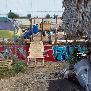 L.A. Homeless Encampment Bridge