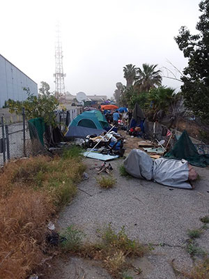 Homeless Encampment Devonshire District