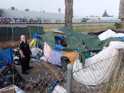 Homeless Encampment Devonshire PD