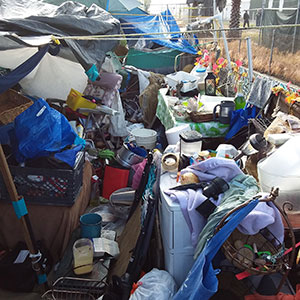 Homeless Encampment Debris