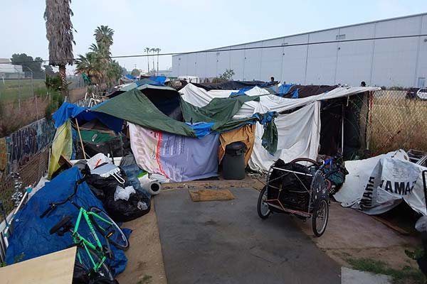 Los Angeles Homeless Encampment