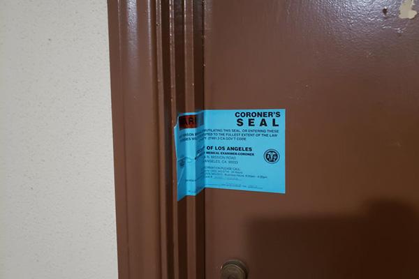 Coroner's Seal On Door